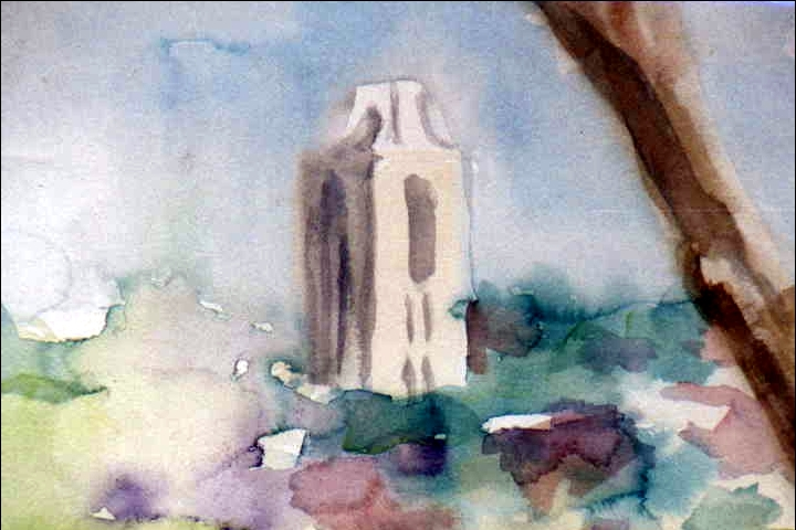 View of the Campenelli 11x14 watercolor $200.00
