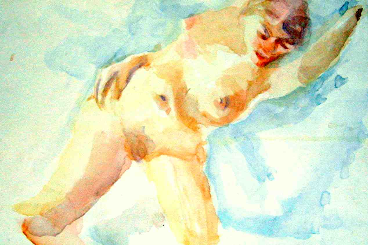 Soft nude 22x28 watercolor $450.00